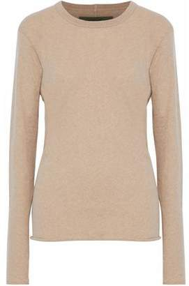 Enza Costa Mélange Cotton And Cashmere-Blend Sweater