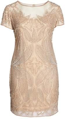 Pisarro Nights Beaded Sheath Dress (Plus Size)