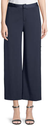 Jonathan Simkhai Deconstructed Satin Crepe Cropped Pants