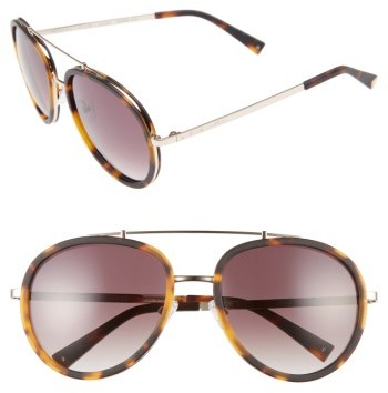 Women's Kendall + Kylie Jules 58Mm Aviator Sunglasses - Matte Demi/ Matte Gold