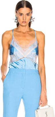 Victoria Beckham Lace Cross Back Cami Top in Sky Blue | FWRD