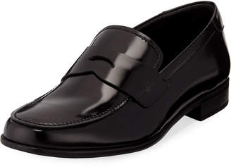 Prada Men's Patent Leather Penny Loafers