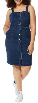 Wilson Rebel x Angels Plus Rebel x Angels Snap-Front Denim Dress