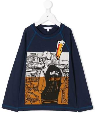 Little Marc Jacobs printed long-sleeved T-shirt