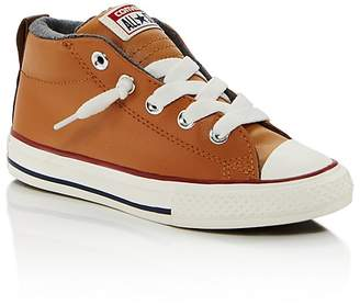 Converse Boys' Chuck Taylor All Star Leather Mid Top Sneakers - Toddler, Little Kid, Big Kid