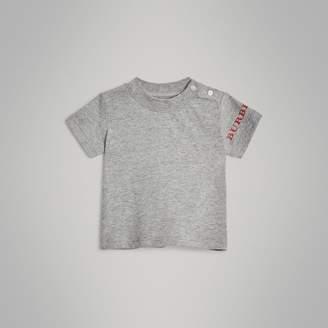 Burberry Logo Print Cotton T-shirt , Size: 12M