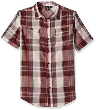 Burnside Men's Domain Short Sleeve Woven Shirt