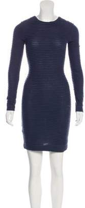 Kimberly Ovitz Long Sleeve Mini Dress Blue Long Sleeve Mini Dress