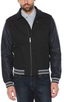Original Penguin Wool Blend Varsity Jacket