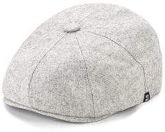 Herringbone Heathered Newsboy Hat