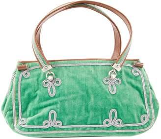Bottega Veneta Green Velvet Handbag