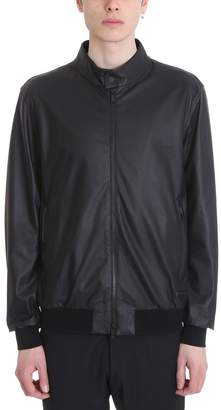 Ermenegildo Zegna Black Leather Jacket