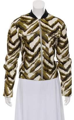 Longchamp Printed Zip-Up Jacket