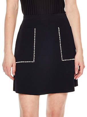 Sandro Short Knit Patch Pocket Skirt
