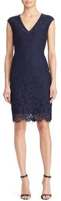 Women's Lauren Ralph Lauren Lace Sheath Dress $190 thestylecure.com
