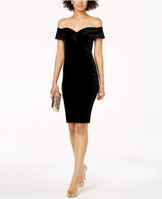 Bardot Velvet Off-The-Shoulder Sheath Dress