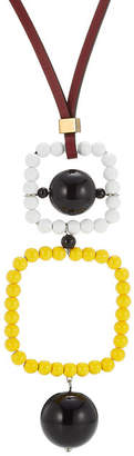 Marni Leather and Bead Necklace
