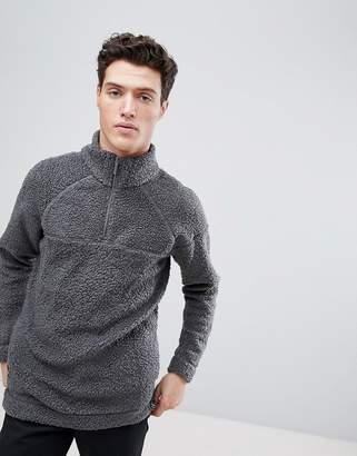 NATIVE YOUTH Half Zip Borg Sweater