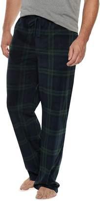 Croft & Barrow Big & Tall Patterned Microfleece Lounge Pants