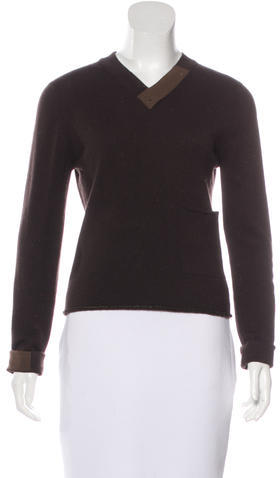 Chanel Chanel Cashmere Rib Knit Sweater