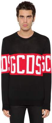 Logo Jacquard Cotton Knit Sweater