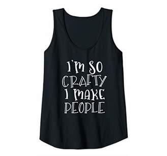 Womens Crafting New Mom Mother To Be Arts Crafts Pregnancy Pregnant Tank Top