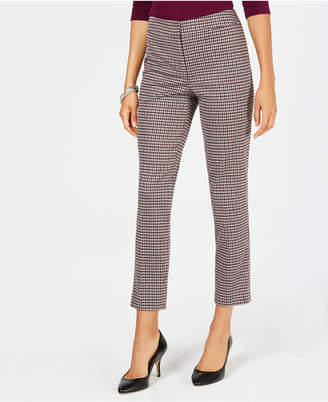 Nine West Houndstooth Tapered Pants