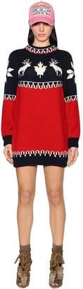 DSQUARED2 Intarsia Wool Knit Dress