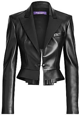Ralph Lauren Women's Zadie Leather Jacket - Size 0