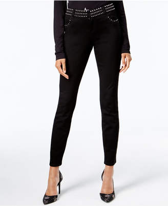 INC International Concepts Anna Sui Loves I.n.c. Studded Skinny Jeans, Created for Macy's
