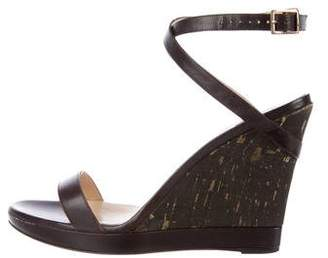 Jimmy Choo Leather Wedge Sandals