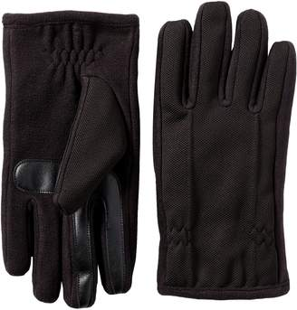 Isotoner Men's Tech Stretch smarTouch Fleece Palm Gloves