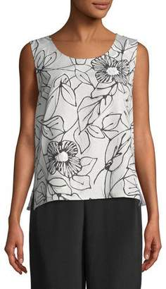 Caroline Rose Frivolous Floral Tank