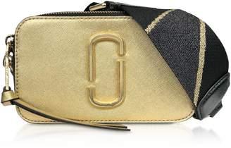 Marc Jacobs Logo Strap Snapshot Metallic Camera Bag