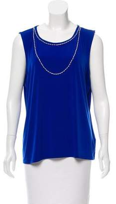 Karl Lagerfeld Embellished Sleeveless Top w/ Tags