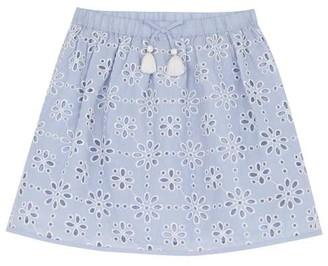 Mint Velvet Blue Broderie Skirt