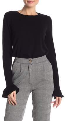 Rebecca Minkoff Juliette Flared Cuff Wool Blend Sweater
