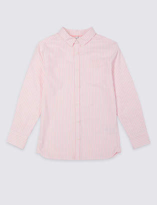 Marks and Spencer Pure Cotton Striped Shirt (3-16 Years)