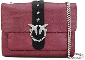 Pinko big Love Zebra Metal shoulder bag