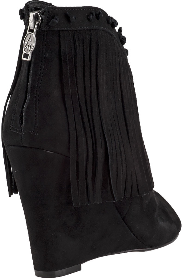 Ash Janis Ankle Boot Black Suede