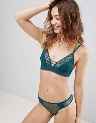 New Look Geo Lace Trim Bralette