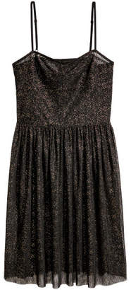 H&M Glittery Mesh Dress - Black