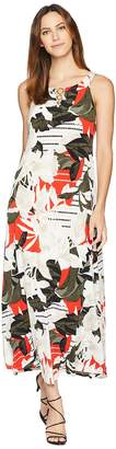 Calvin Klein Sleeveless Maxi w/ Circle Hardware Women's Dress