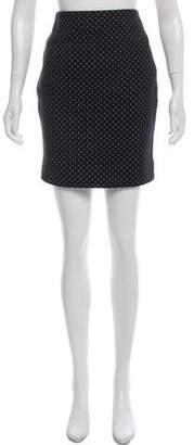 Akris Punto Polka Dot Mini Skirt w/ Tags