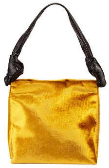 The Row Wander Small Velvet & Snakeskin Shoulder Bag
