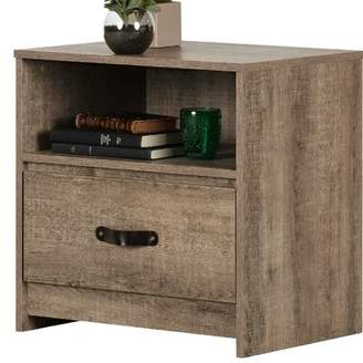 South Shore Sazena 1-drawer Nightstand With Open Space South Shore