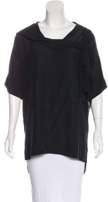 Thomas Wylde Chain-Accented Silk Blouse