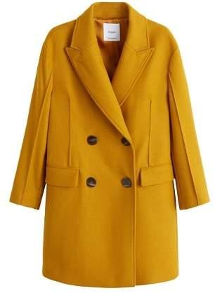 Mango MANGO Unstructured virgin wool coat