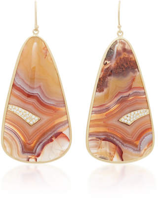Kothari Panorama 18K Gold Agate Earrings