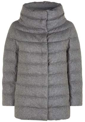 Herno Cashmere Silk Metallic Padded Jacket